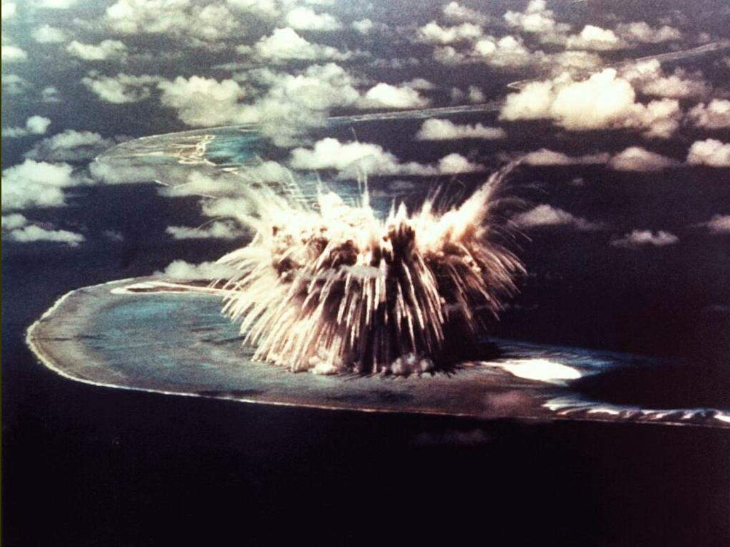 Bikini island nuclear tests