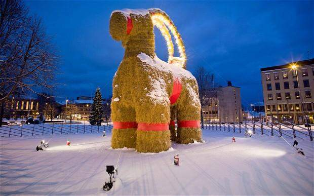 Image result for christmas sweden goat