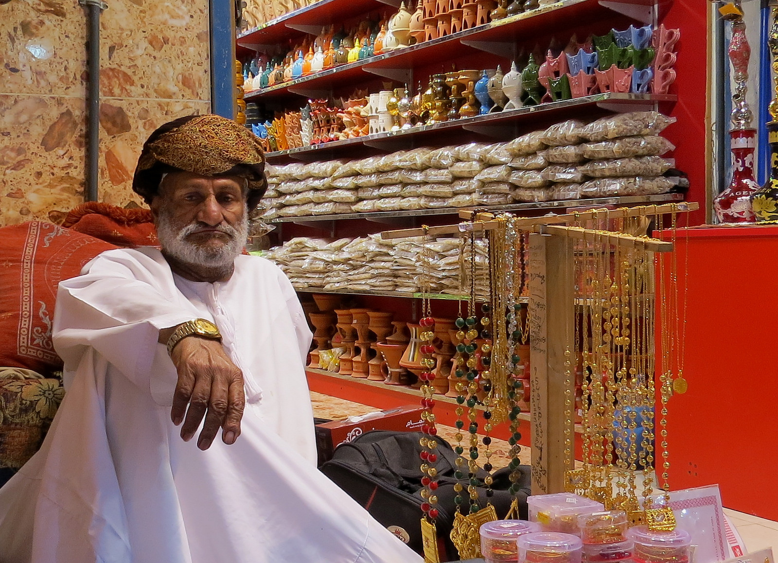 Muttrah Souq - one of the oldest market in the Arab world